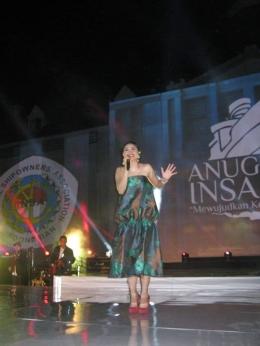 Salah satu aksi panggung Andien-Foto: Dokumentasi Pribadi Irvan