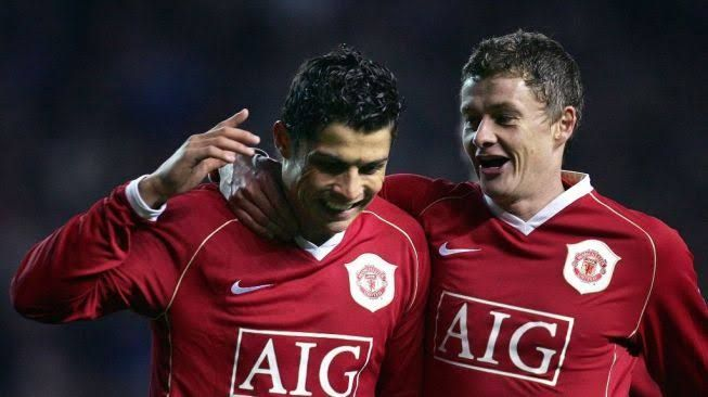 Reuni antara Cristiano Ronaldo dan Ole Gunnar Solskjaer (suara.com)