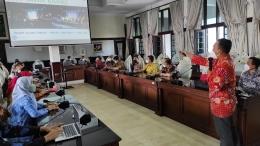 M. Dede Soleh tampilkan capaian PKH di Jawa Barat. Dok: pribadi