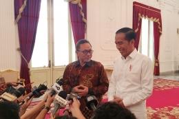 Pertemuan antara Ketua UMUM PAN, Zulkifli Hasan dan Presiden RI Joko Widodo di Istana Merdeka, Jakarta. Foto: KOMPAS.com/Ihsanuddin