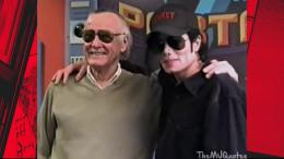 Michael Jackson saat bersama Stan Lee di sebuah acara. Sumber : twitter.com/keyamorgan