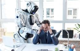Illustrasi robot dan manusia (pic: hrmasia.com)