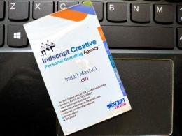 kenangan kartu nama lama, Indscript Creative, sumber: pribadi