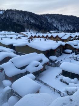 China snow town di Kota Heilongjiang