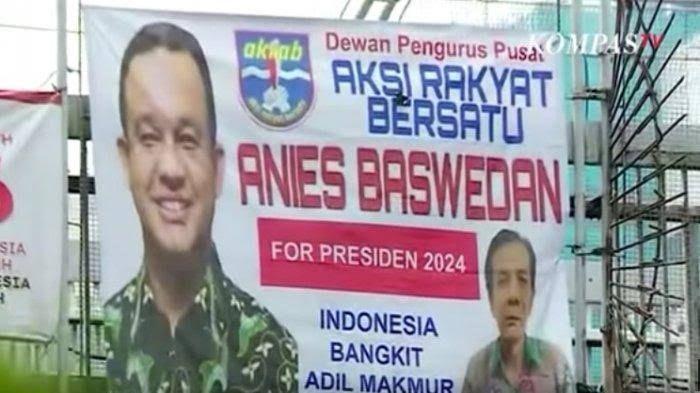 Spanduk Gubernur DKI Jakarta, Anis Rasyid Baswedan for presiden 2024, ilustrasi : tribunews.com