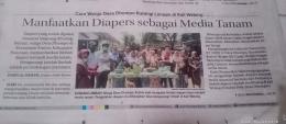 Dimuat koran (Dok. Pribadi)