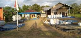 Padi di salah satu rumah transmigran asal Jawa di Distrik Semangga, Merauke (Marahalim Siagian).