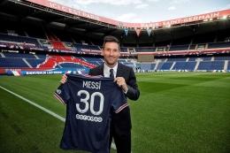 Lionel Messi bergabung ke Paris Saint Germain. (Foto: Official Paris Saint Germain)