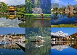 Kolase foto-foto refleksi dari berbagai destinasi. Sumber: Dokumentasi pribadi