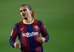 Striker Barcelona yang dipinjamkan ke Atletico Madrid, Antoine Griezmann (Bola.okezone.com)