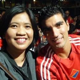 Saya bersama Jose Antonio Reyes. (Sumber: Koleksi pribadi)