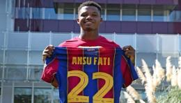 Ansu Fati sebelumnya mengenakan nomor punggung 22: AS