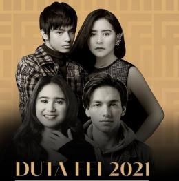 Tahun ini dutaFFI adalah bintang muda berbakat yaitu Angga Yunanda,Prilly Latuconsina, Jefri Nichol, dan Tissa Biani| sumber gambar:Instagram.com/festivalfilmid