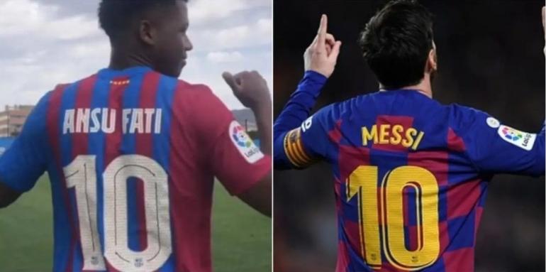 Ansu Fati resmi mewarisi nomor punggung Lionel Messi: FC Barcelona: Getty/VI Images
