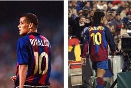 Rivaldo dan Ronaldinho tercatat pernah menjadi pemilik nomor 10 di Barcelona: Dailymail.co.uk