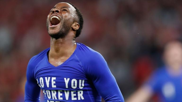 Raheem Sterling pencetak gol pertama ke gawang Hungaria diperlakukan rasis oleh suporter Hungaria (Foto Skysports)