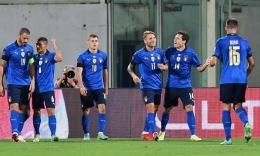 Selebrasi tim Italia setelah gol ke gawang Bulgaria. Gambar: bola.okezone.com