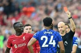 Liverpool vs Chelsea (28/8). Foto: AFP/Michael Regan via Kompas.com