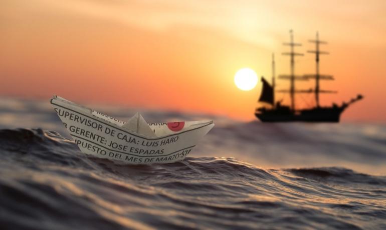 Dawn Paper Ship - Free photo on Pixabay