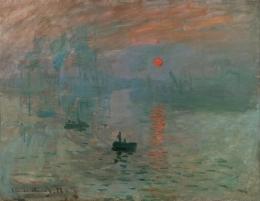 Impression, Soleil Levant (Impression, Sunrise) karya Claude Monet (Sumber: wikiart.org)