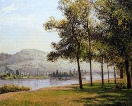 The Cours la Reine at Rouen Morning, Sunlight karya Camille Pissarro (Sumber: wikiart.org)