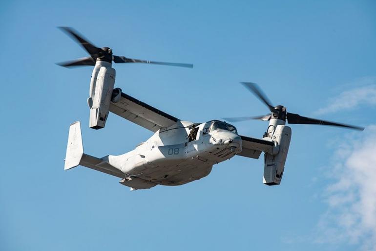 Pesawat V-22 Osprey. Sumber gambar: boeing.com