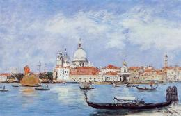 Venice, View from the Grand Canal karya Eugene Boudin (Sumber: wikiart.org)