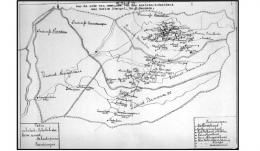Peta Wilayah Afdeling Hulu Sungai (II) 1937