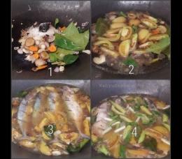 Proses memasak tahap demi tahap. Gampang dan praktis. Tinggal cemplang-cemplung, jadi deh.   Foto: Wahyu Sapta.