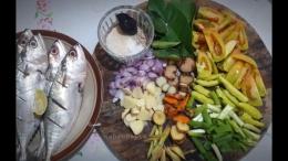 Resep praktis ala saya, bumbu diiris. Tetap lezat hasilnya.   Foto: Wahyu Sapta.