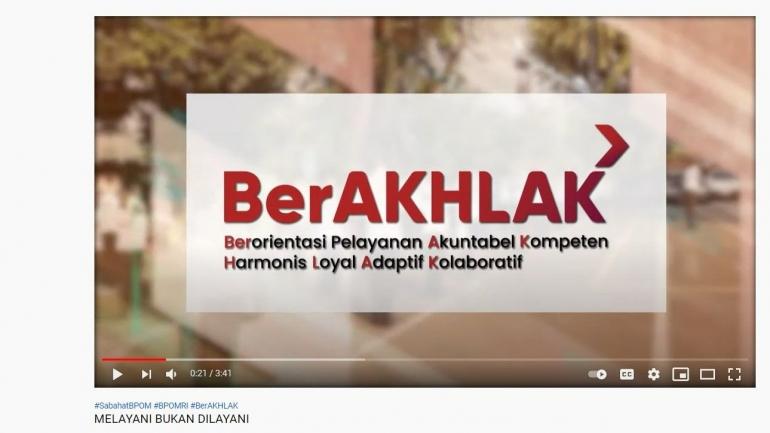Ilustrasi: ASN Berakhlak, Melayani Bukan Dilayani (dok. Youtube Badan POM)