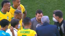 Insiden di laga Brasil vs Argentina (Marca.com)