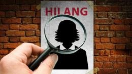 Ilustrasi wanita hilang, sumber: Mindra Purnomo via detik.com