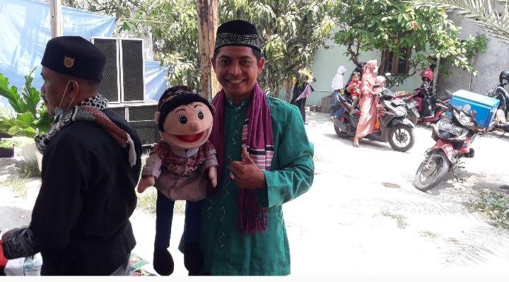 Berdakwah ditemani boneka bernama Si Odik(dokpri)