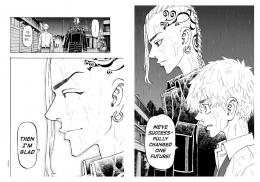 Draken senang mendengat Takemichi bisa melihat masa depan. (Sumber: Dok. Kodansha US, Tokyo Revengers.)