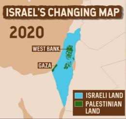 Peta wilayah Israel dan Palestina tahun 2000. (BBC)