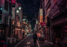 Ilustrasi suasana malam di Shinjuku (Foto: Philippsaal Via Pixabay)