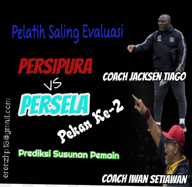 Foto: Coach Jacksen Tiago dan Iwan Setiawan Saling mengevaluasi tim/Sumber: Ilustrasi Pribadi