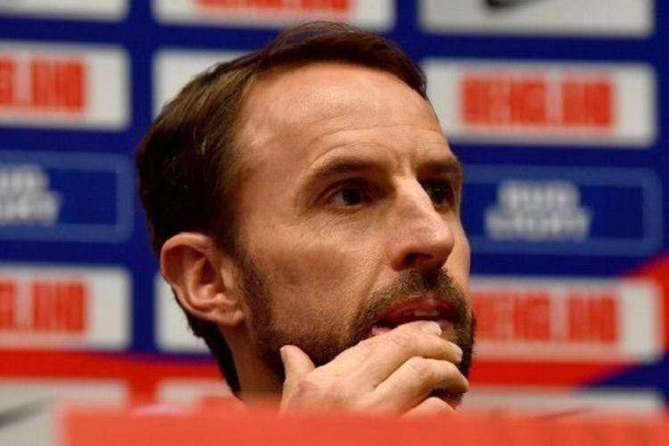Manajer Inggris, Gareth Southgate sudah menemukan 11 pemain pilihannya untuk Three Lions (Foto AFP/Andrej Isakovic via Kompas.com)
