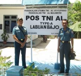 Sejenak bersama sebelum meninggalkan Pos TNI AL Labuan Bajo kembali pangkalan masing-masing, dokpri.