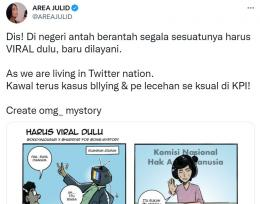Tweet Salah Satu Akun ( twitter.com/AREAJULID )