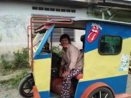 Keramahan penumpang beca motor (Dok. Pribadi)