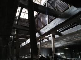 Rangka bangunan rumah adat