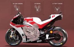 Bentuk mesin V4 90 derajat atau L4 Ducati yang kini juga digunakan Aprilia. Sumber: via Blogotive.com