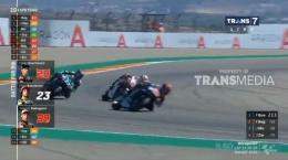 Hari yang buruk lagi bagi Quartararo seperti di Jerez. Sumber: Motogp/Transmedia/Trans7