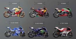Ragam mesin yang digunakan motor-motor di kelas MotoGP. Sumber: via Blogotive.com