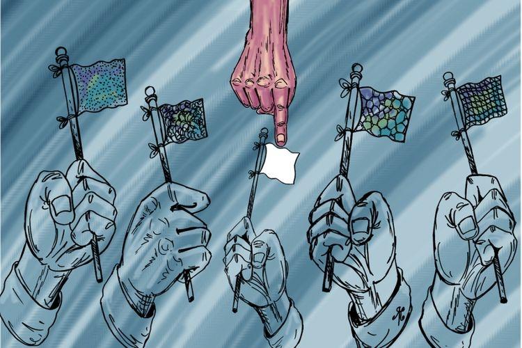 Ilustrasi golput. Sumber: Kompas.com/Handining