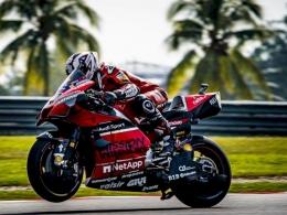 Bandingkan dengan di motor Ducati yang terlihat bahwa Petrucci dapat menunduk maksimal. Sumber: via Indozone.id
