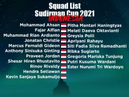 Skuad Indonesia di Piala Sudirman 2021: https://twitter.com/BadmintonTalk