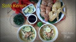 Taraaa... Soto Kemiri siap dinikmati bersama ayam ungkep dan tempe goreng. Lezaaat... | Foto: Wahyu Sapta.